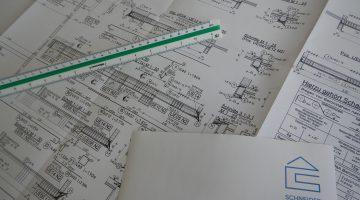 Bauzeichnung Tragwerksbau